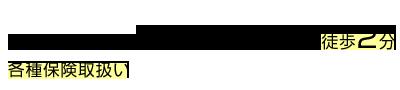 皆実町六丁目駅/広大附属学校前駅 より徒歩2分  / 各種保険取扱い